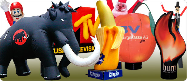 Inflatable specials – from company logos to mascots
